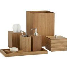 Bamboo Countertop Bathroom Set Organization Pinterest Accessories And