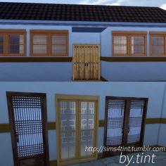 My Sims 4 Blog: Korean Doors and Windows by Sims4Tint