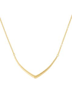 Dinny Hall Small Gold-Plated Cushion Chevron Necklace