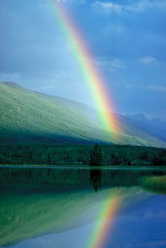 Gorgeous #rainbow #reflection. http://nationallawforum.com/2010/07/18/surviving-the-economy-dancing-in-the-economic-storm/vertical-rainbow/