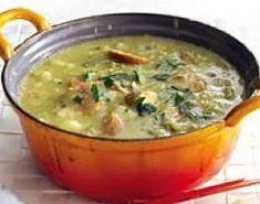 Hollandse erwtensoep - Dutch split pea soup with smoked sausage. Dutch Recipes, Soup Recipes, Healthy Recipes, Easy Recipes, I Love Food, Good Food, Yummy Food, Dutch Pea Soup Recipe, Soup Starter