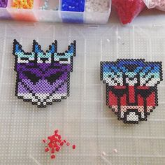 Transformers perler beads by pnbcrafts