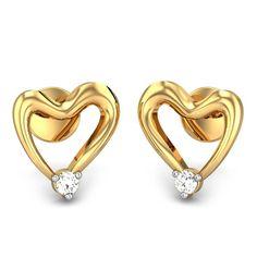 Cheerful Heart Stud Earrings