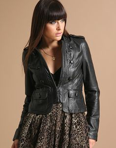 cute leather jackets for women - Google Search