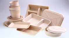 Universal Biopack makes packaging that it sells to restaurants and manufacturers. But rather than plastic, it uses a mixture of bamboo and cassava.