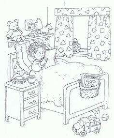 ill hospital zieken huis ziek zijn kleurplaat couloring picture colloring Colouring Pages, Adult Coloring Pages, Coloring Sheets, Bedroom Drawing, Diy Quiet Books, Printable Numbers, Digital Stamps, Kids Education, Reading Comprehension
