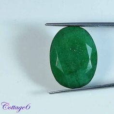 21.75Cts. FABULOUS!! NATURAL GREEN EMERALD OVAL CUT GEMSTONE BRAZIL #UNBRANDED