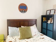 Decorate your nursery with this stylish, modern wooden name sign! Everything is hand crafted with a whole lot of love!  Each piece will be cut, sanded, painted and stained by hand. The stain may vary due to the grains and knots from the wood. That is what makes your sign so unique! Personalized Wooden Signs, Wooden Name Signs, Wooden Names, Wood Signs, Nursery Signs, Wood Letters, Handmade Wooden, Cribs, Knots