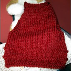 Handmade Dog / Cat Clothing - Knit Pet Pullover Sweater Vest, candy apple Listing in the Accessories,Pets,Home & Garden Category on eBid United States | 137443061