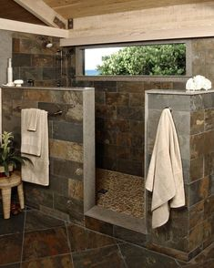 How beautiful is this! Every time you step in the shower you would feel like you…