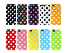 Magenta Pink and White Polka Dot Gloss Flex Gel Case For the NEW Apple iPhone 5 (AT&T, Verizon, Sprint):Amazon:Cell Phones & Accessories