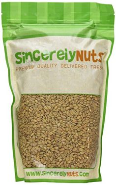Unsalted Sunflower Seeds - No Salt / Roasted ~ Ingredients Roasted sunflower kernels, sunflower oil (sunflower oil, citric acid)
