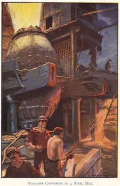 The Bessemer Process: A Bessemer converter in a steel mill. This was considered a joy for most because it greatly decreased the price of steel. It also allowed for the huge skyscrapers of New York to be built. Without this settlers wouldn't have had enough money to afford steel.