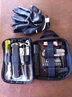 My first EDC tool kit, which also fits in my Mountainsmith messenger bag (if I need to carry it that way).