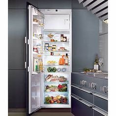 Liebherr Bulit-in appliances with BioFresh ~ A great option if you want your fridge hidden away. This one's in our showroom too! #Liebherr