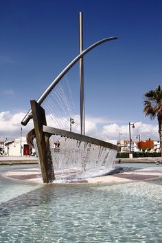 Boat Fountain - Valencia, Spain