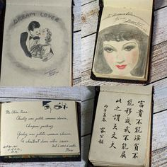 Vintage Art Autograph Book and Sketch Book by Cottonridgevintage, $80.00