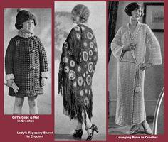 Bear Brand Manual #47 c.1925 Book of 1920's Vintage Knitting & Crochet Patterns