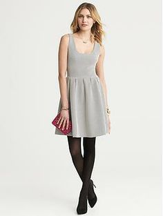 another great dress with tights Dot Ponte Fit-and-Flare Dress