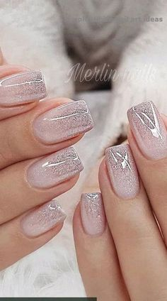 Nail Design Metalic For Wedding nails are an art expression to many brides nowad. - Nail designs - Hybrid Elektronike - Nail Design Metalic For Wedding nails are an art expression to many brides nowad… – Nail design - Wedding Nails For Bride, Bride Nails, Wedding Nails Design, Nail Designs For Weddings, Nails For Wedding, Wedding Manicure, Glitter Wedding Nails, Bridesmaid Nails Acrylic, Blue Wedding