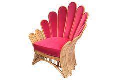 1960s vintage rattan and pink velvet upholstery, hello lover!