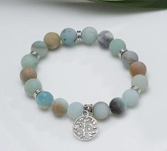 Bracelets For Men, Beaded Bracelets, Tree Of Life Bracelet, Tree Agate, Hematite Bracelet, Natural Crystals, Semi Precious Gemstones, Stone Necklace, Stone Beads