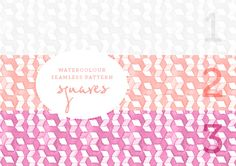 Geometric watercolor patterns - 6 different colors (free download!)