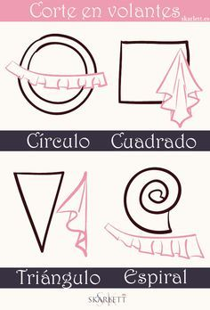 Aprende a cortar volantes para tus proyectos de costura / Little post (SKARLETT) - Pat Tutorial and Ideas Sewing Basics, Sewing Hacks, Sewing Tutorials, Sewing Crafts, Sewing Projects, Pattern Drafting Tutorials, Sewing Ideas, Techniques Couture, Sewing Techniques