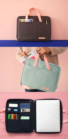 Better Together Pouch meets cute pink handles so that it can be carried like a tote bag! The useful pockets are always helpful to organize your items neatly, and allow you to carry all the items at once. Thanks to the durable and water-resistant material, you can carry this functional pouch anywhere you go!