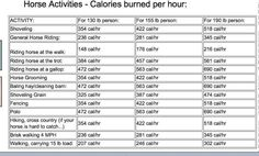"""caloriesburned.  For when people try to tell you that riding is just """"exercise for the horse, not the rider."""""""