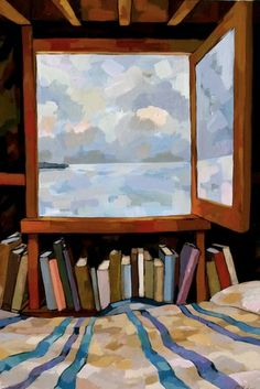 resonance in a room with a view ... Rosemary Leach - Cabin. #reading #books