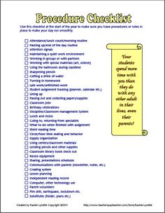 Classroom Procedure Tips and Resources
