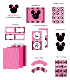 Minnie party printables :)