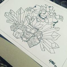 Crash bandicoot design - tattoo