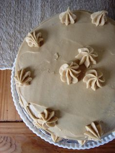 pumpkin cake with butterscotch filling