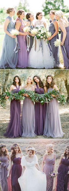Trend Report: 5 Best Bridesmaid Dress Colors For Spring 2018! Lavender x Violet