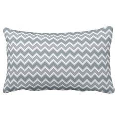 #stripes - #Shades of Gray Chevron Stripes Lumbar Pillow