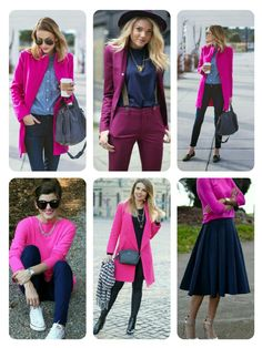Fuchsia and Blue