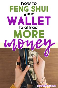 feng shui tips for your wallet to attract more money! how to feng shui your wallet for wealth and abundance! | feng shui, feng shui your wallet, feng shui wallet tips Feng Shui Wallet Colour, Feng Shui Your Wallet, Feng Shui Rules, Feng Shui Tips, Chi Energy, Brownie Points, Lucky Colour, Best Wallet, Me Clean
