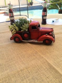 Centerpieces for my dads 60th classic car birthday party Classic