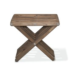 Stool X30 - Espresso Brown The Stool X30 is attractive, functional, durable, eco friendly and 100% made in the USA! This sturdy sitting stool arrives partially assembled at your home needing only a final touch to be ready for use! Conceived by the Brazilian designer Ignacio Santos, the Stool X30 is crafted from Eco Friendly Premium Yellow Pine wood from Alabama, stainless steel and built to last a life time if well taken care of.