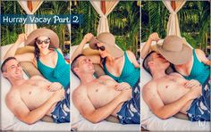 Hurray Vacay Sneak Peek featuring Kimmay in a green Anita one piece swimsuit