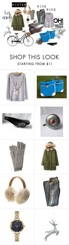 """""""Winter bike ride"""" by bouts-darts-vintage ❤ liked on Polyvore featuring Chicnova Fashion, UGG Australia, Kate Spade and vintage"""