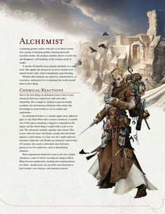 DnD 5e Homebrew — Alchemist Class by The Middle Finger of Vecna