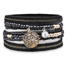 Pulsera cuero,textil,cristal plata,bronce Textiles, Belt, Bracelets, Jewelry, Fashion, Bronze, Silver, Crystals, Leather