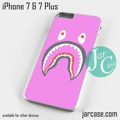 Pink Bape Shark Phone case for iPhone 7 and 7 Plus