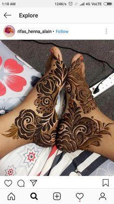 Kashee's Mehndi Designs, Floral Henna Designs, Finger Henna Designs, Legs Mehndi Design, Mehndi Design Pictures, Mehndi Designs For Girls, Wedding Mehndi Designs, Henna Designs Easy, Beautiful Henna Designs