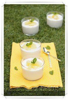 Mousse de yogur de piña y coco
