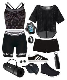 Health Goth Duo by blackbettyblog on Polyvore featuring Puma, Sweaty Betty, Patagonia, adidas Originals, Skechers, NIKE, Belkin and Bragi