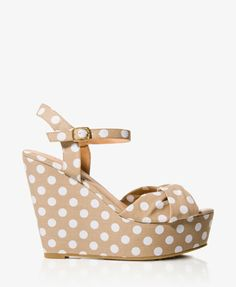 Polka Dot Wedge Sandals | These are extremely high, but sp adorable.